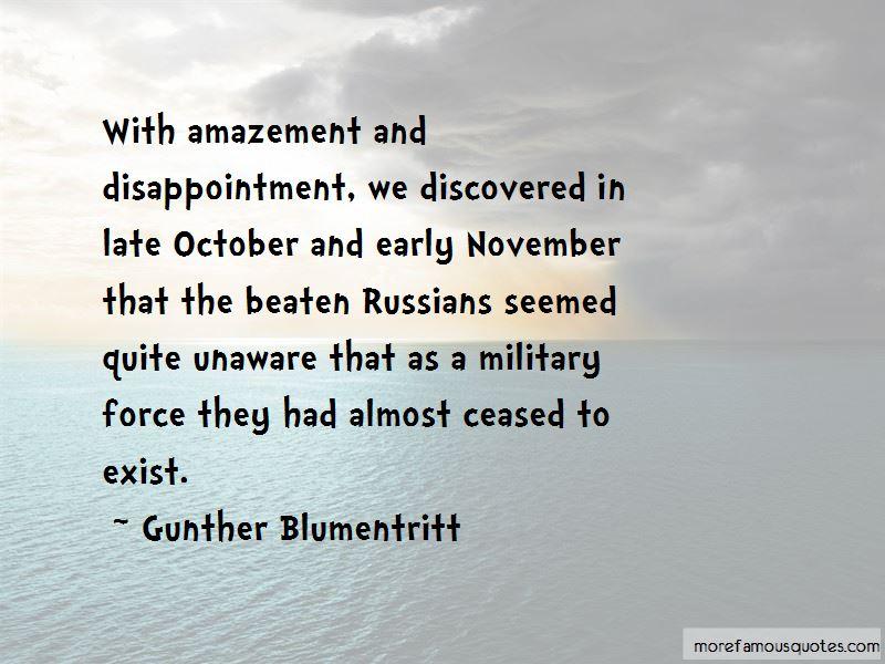 Gunther Blumentritt Quotes