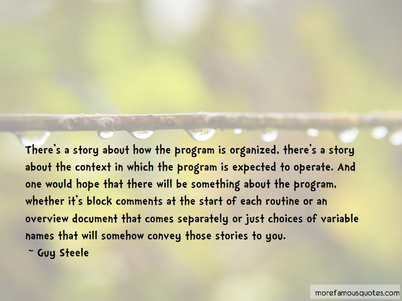 Guy Steele Quotes
