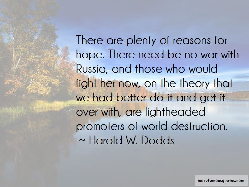 Harold W. Dodds Quotes