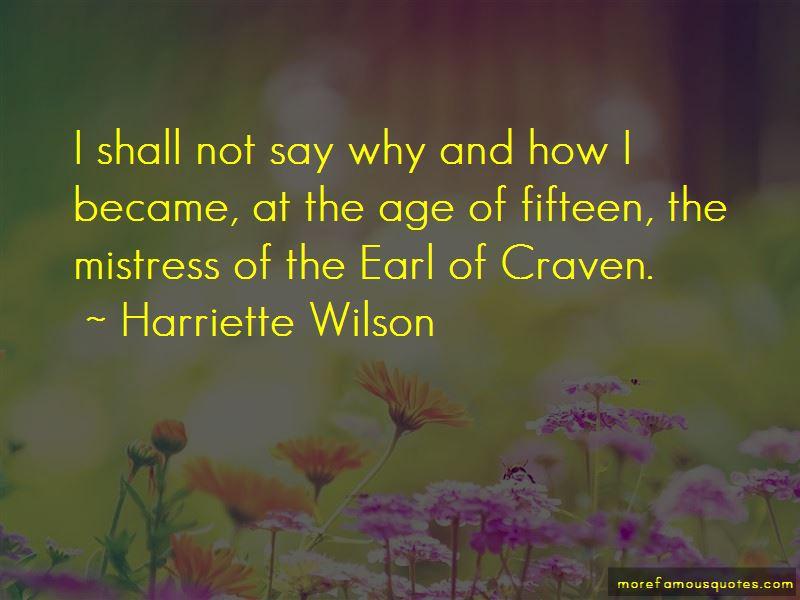 Harriette Wilson Quotes
