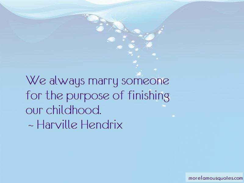 Harville Hendrix Quotes