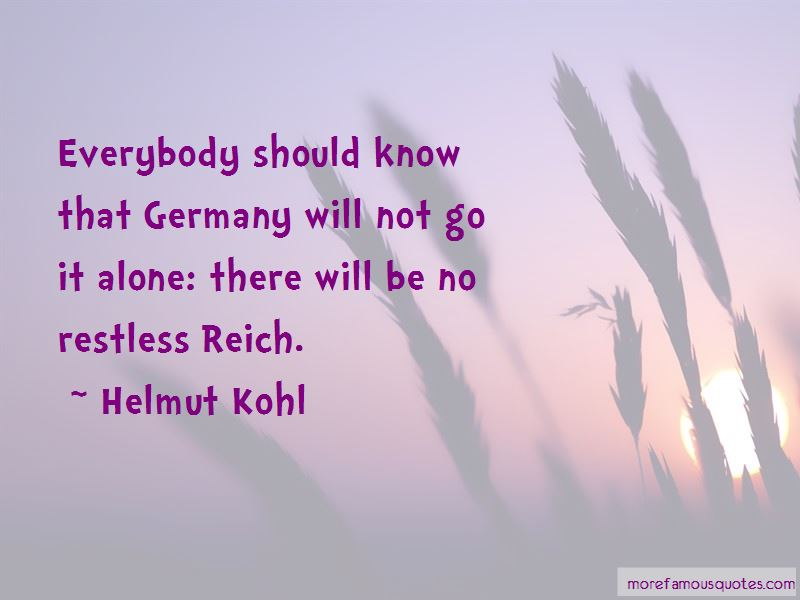 Helmut Kohl Quotes