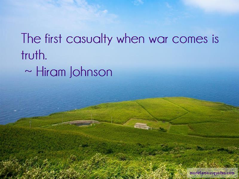 Hiram Johnson Quotes