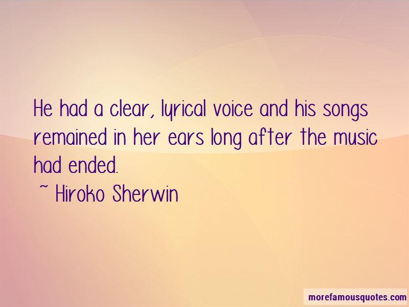 Hiroko Sherwin Quotes