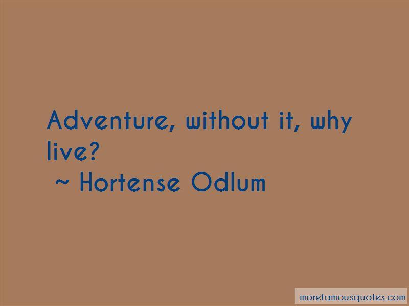 Hortense Odlum Quotes