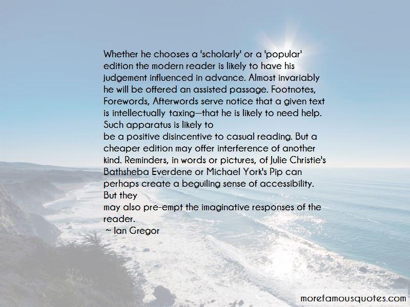 Ian Gregor Quotes