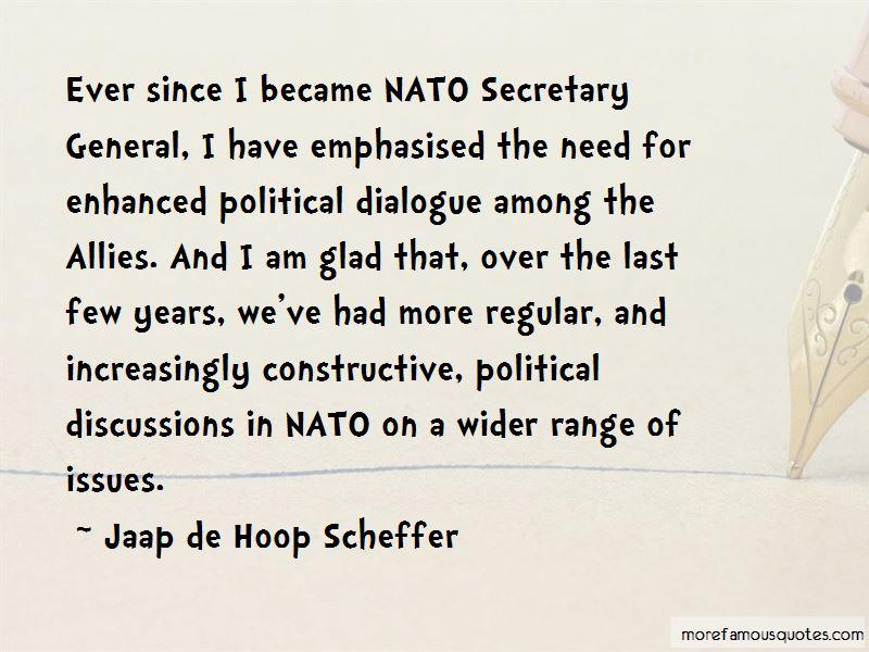 Jaap De Hoop Scheffer Quotes