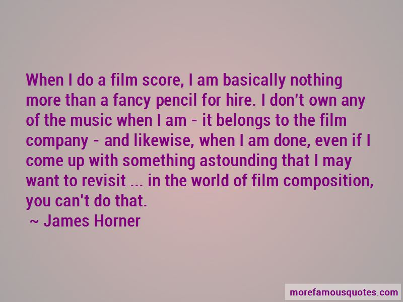 James Horner Quotes