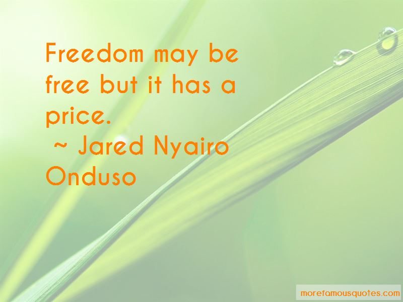 Jared Nyairo Onduso Quotes Pictures 2