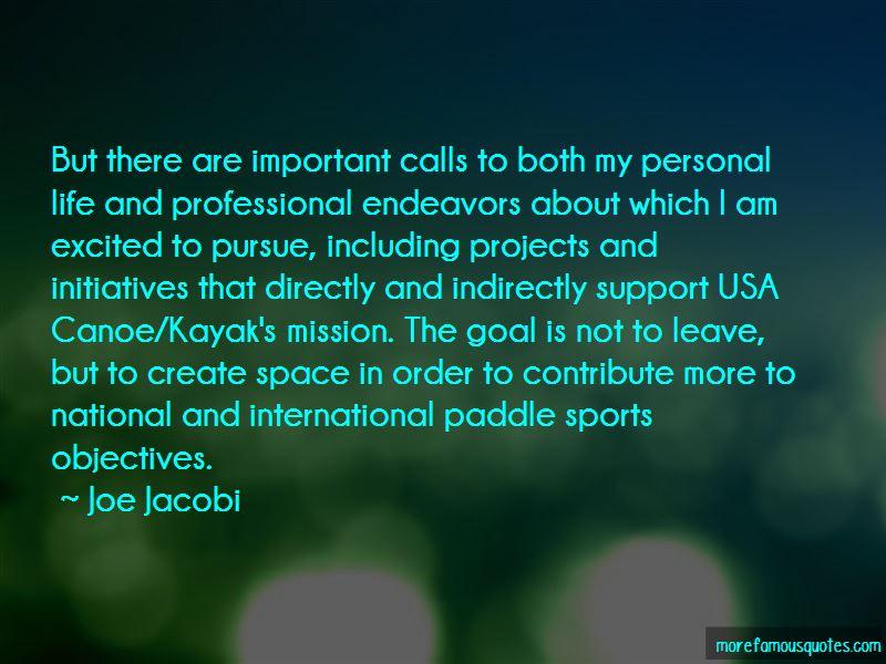 Joe Jacobi Quotes