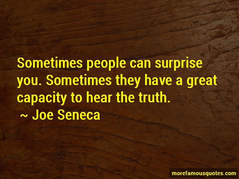 Joe Seneca Quotes