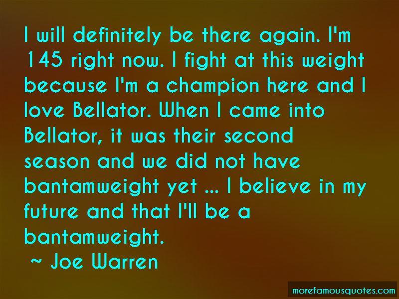 Joe Warren Quotes