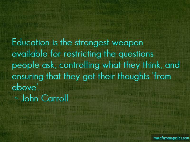 John Carroll Quotes