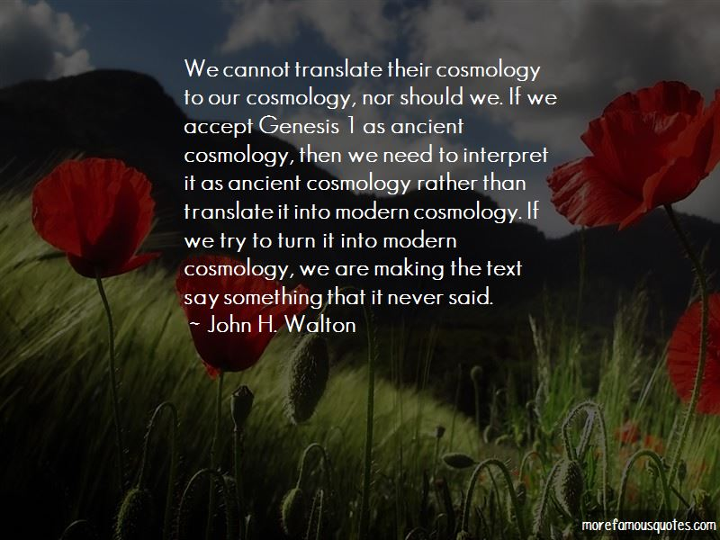 John H. Walton Quotes Pictures 4