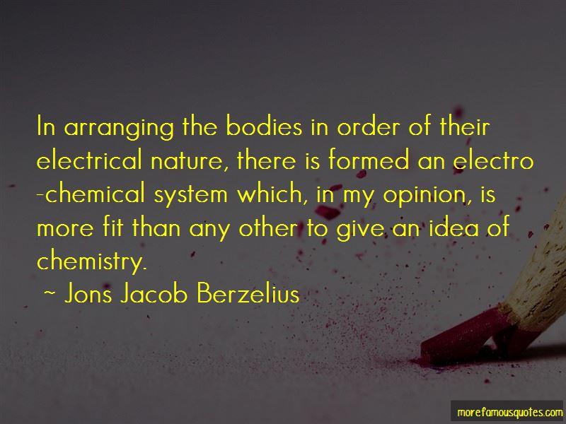 Jons Jacob Berzelius Quotes