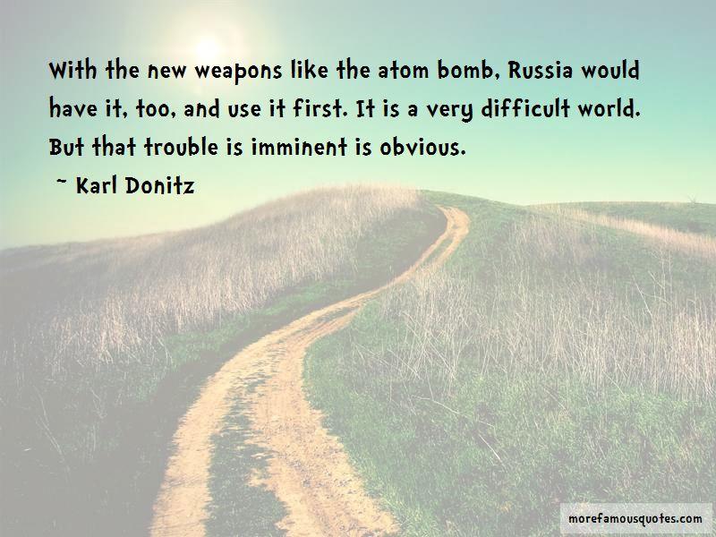 Karl Donitz Quotes