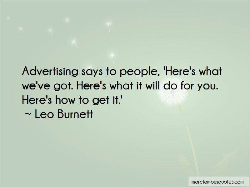 Leo Burnett Quotes Pictures 2