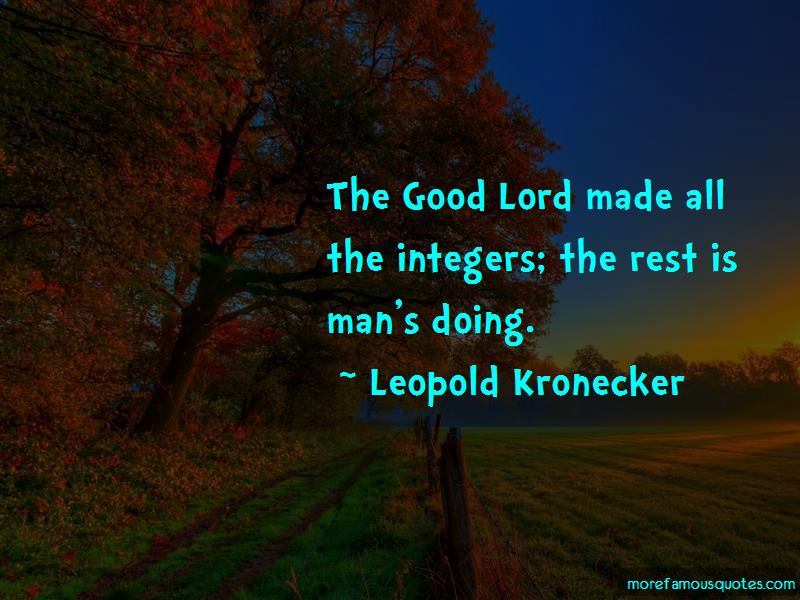 Leopold Kronecker Quotes Pictures 2