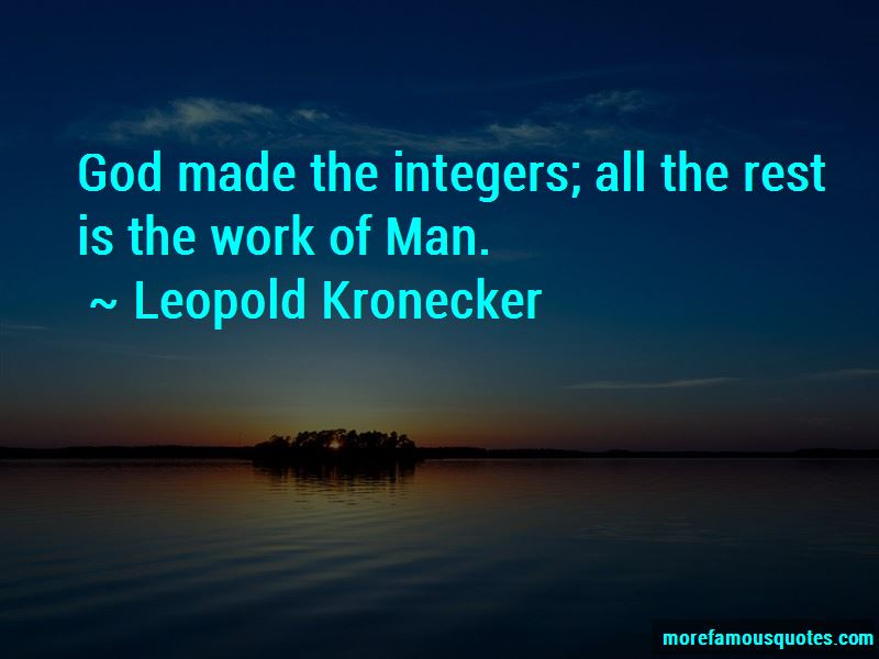 Leopold Kronecker Quotes Pictures 3
