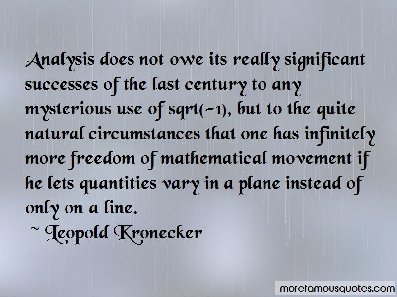 Leopold Kronecker Quotes Pictures 4