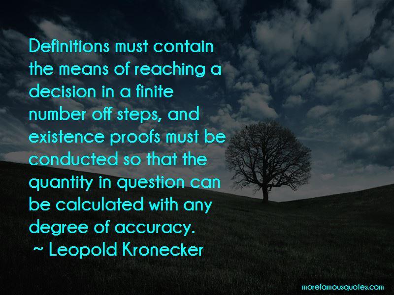 Leopold Kronecker Quotes