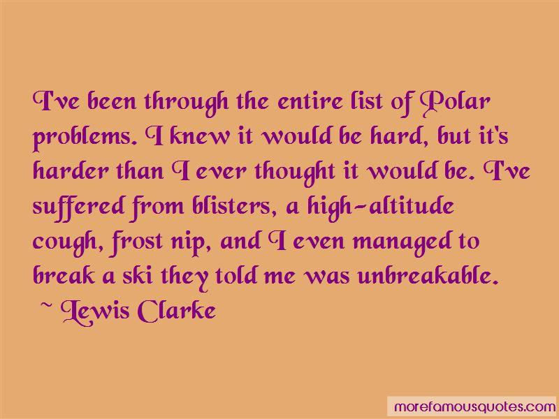 Lewis Clarke Quotes