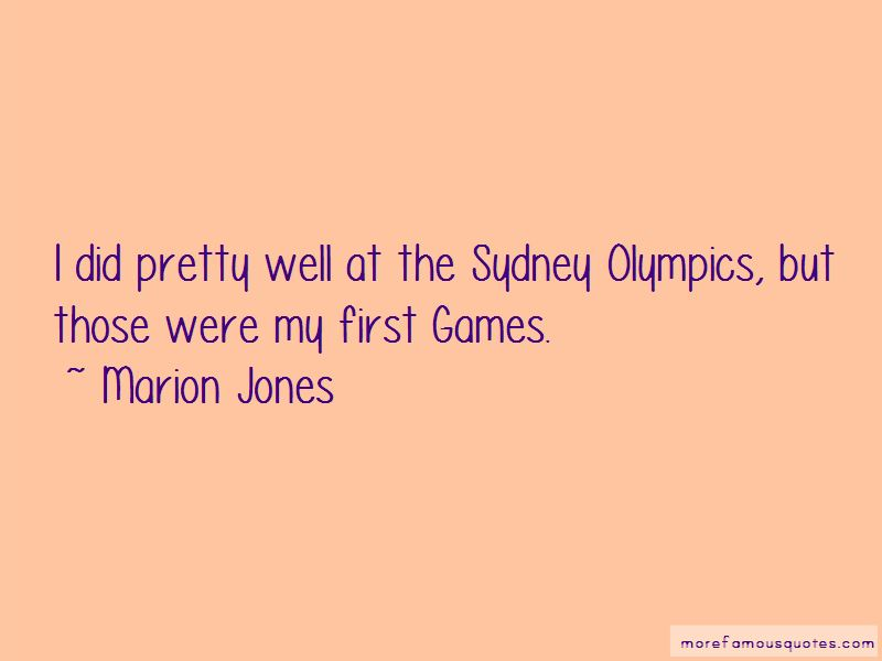 Marion Jones Quotes Pictures 2