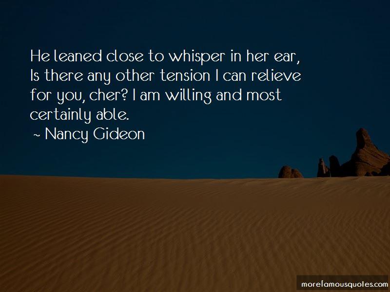 Nancy Gideon Quotes Pictures 2