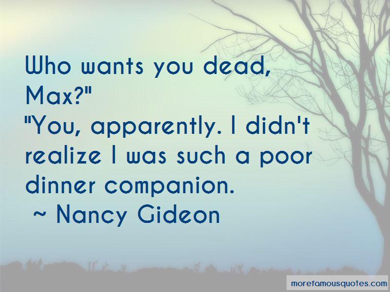 Nancy Gideon Quotes Pictures 4