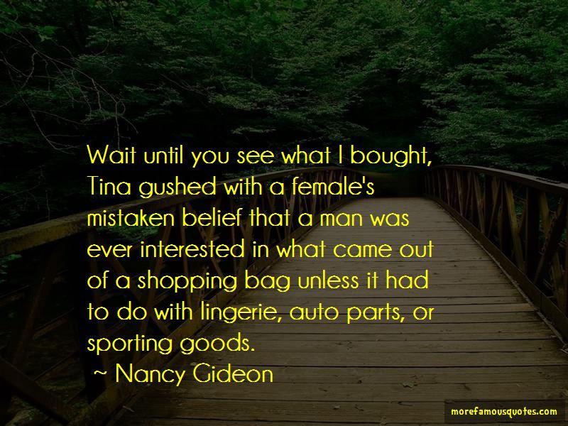 Nancy Gideon Quotes