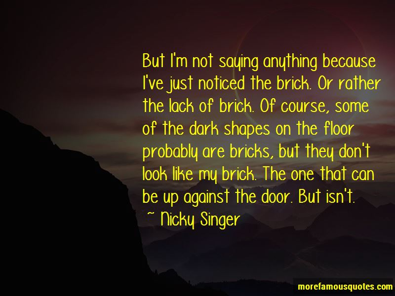 Nicky Singer Quotes Pictures 2