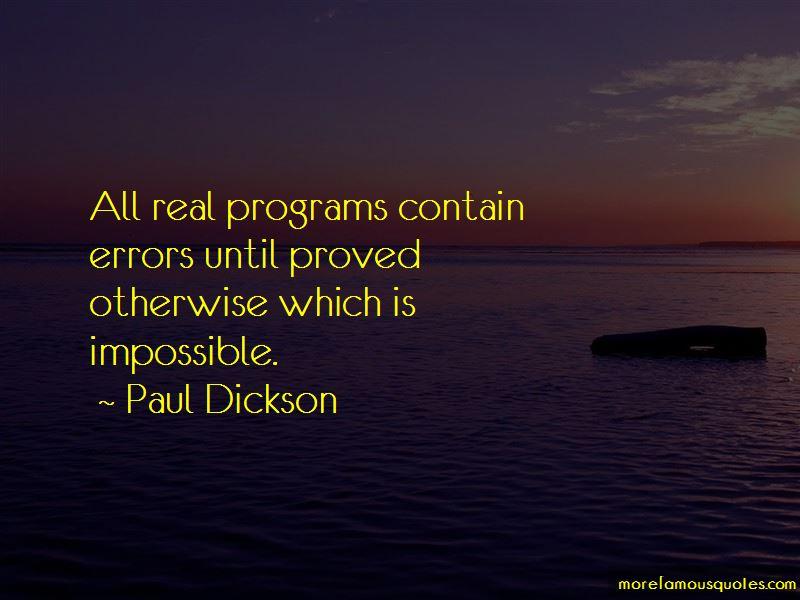 Paul Dickson Quotes