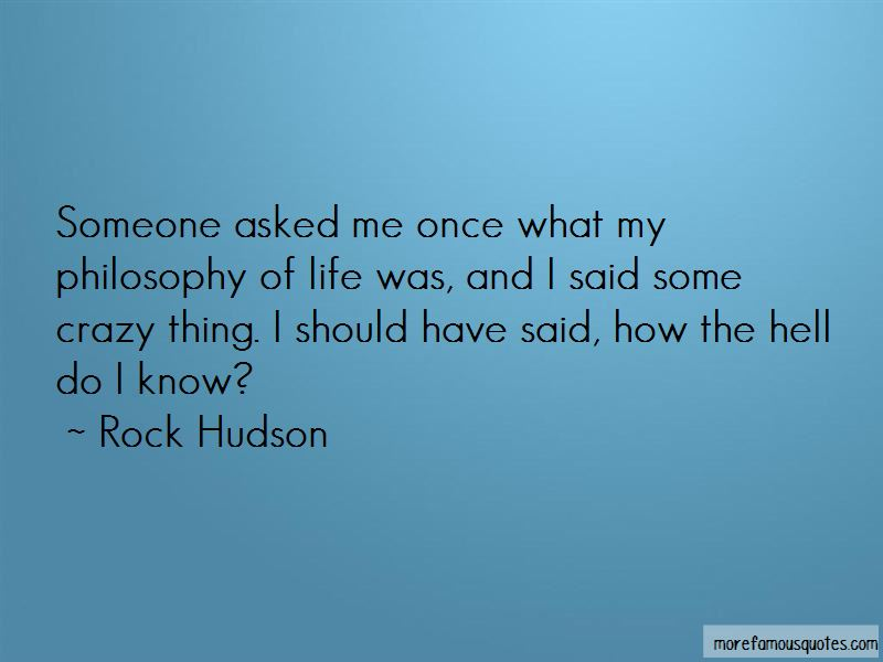 Rock Hudson Quotes Pictures 3