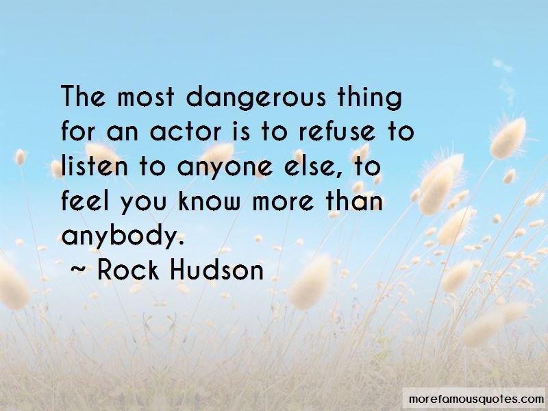 Rock Hudson Quotes