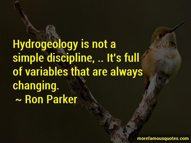 Ron Parker Quotes