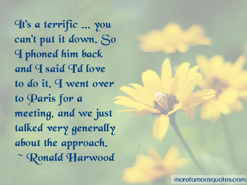 Ronald Harwood Quotes Pictures 3