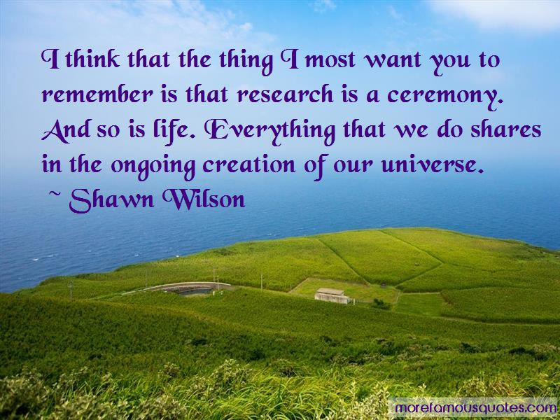 Shawn Wilson Quotes
