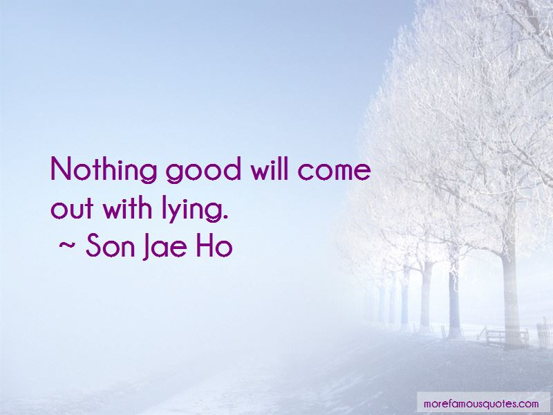 Son Jae Ho Quotes