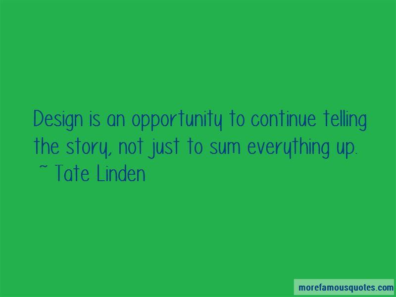 Tate Linden Quotes