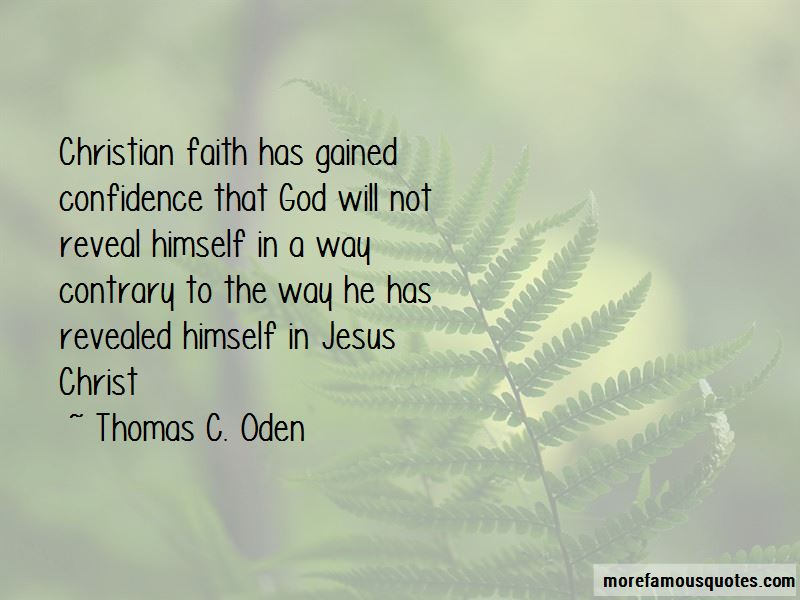 Thomas C. Oden Quotes Pictures 3