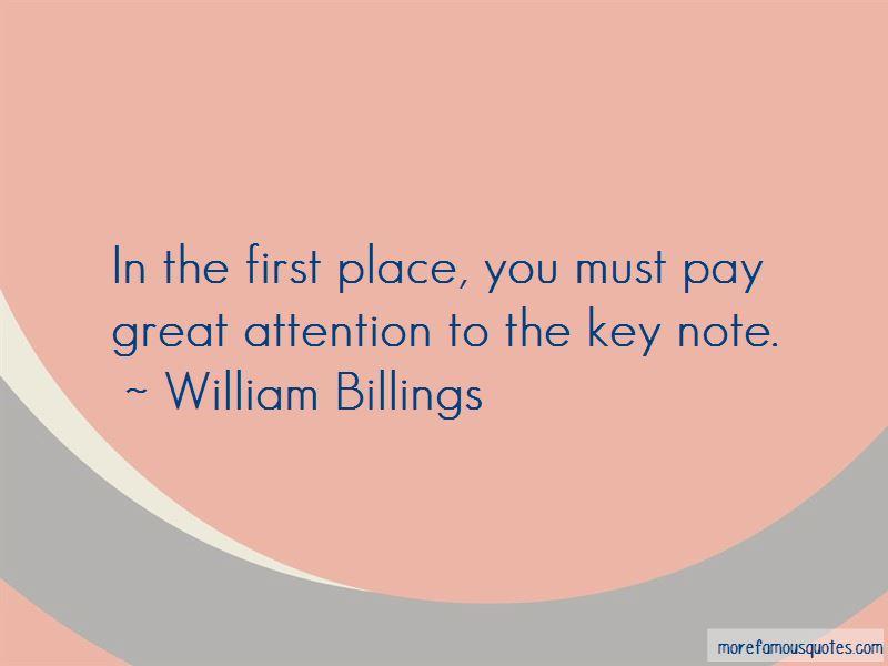 William Billings Quotes