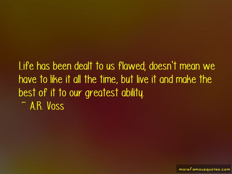 A.R. Voss Quotes Pictures 2