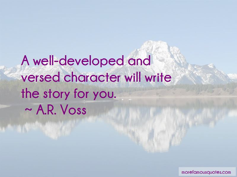 A.R. Voss Quotes Pictures 4