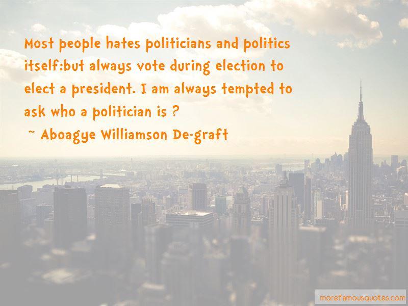 Aboagye Williamson De-graft Quotes