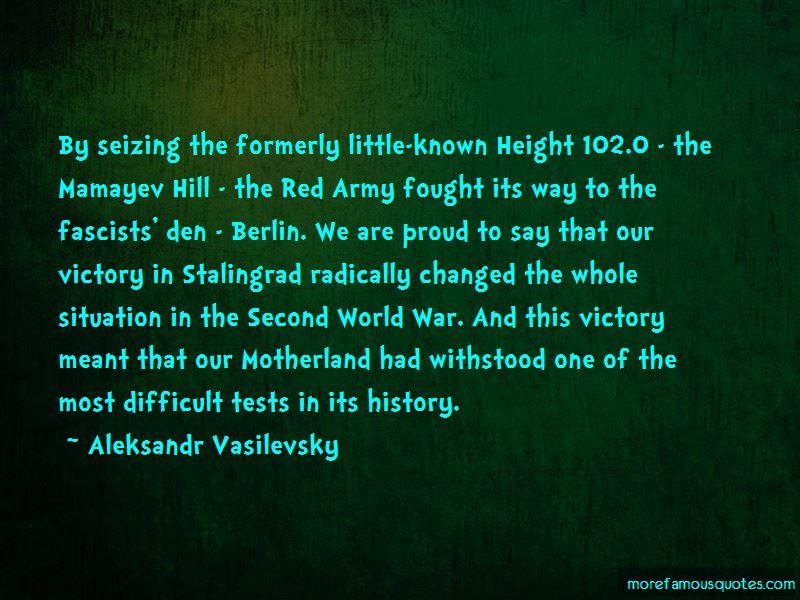 Aleksandr Vasilevsky Quotes