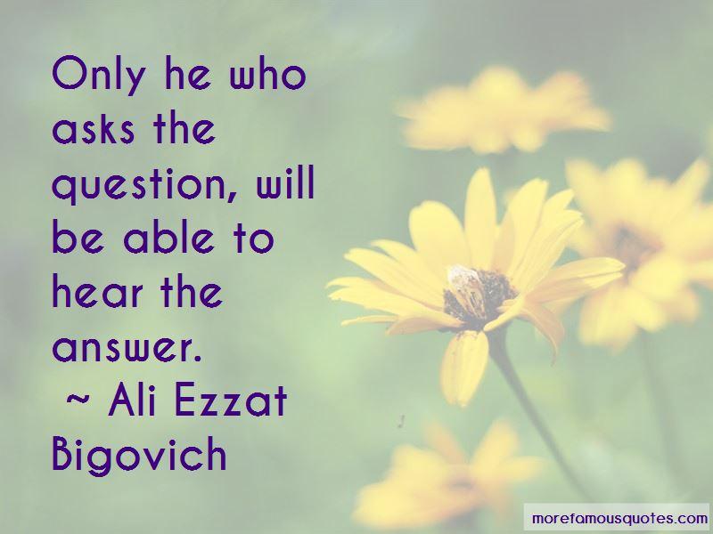 Ali Ezzat Bigovich Quotes