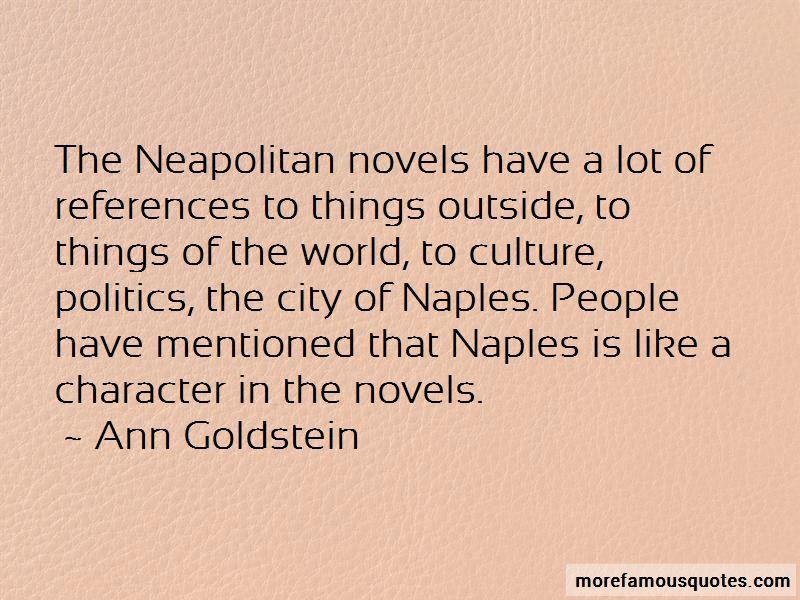 Ann Goldstein Quotes