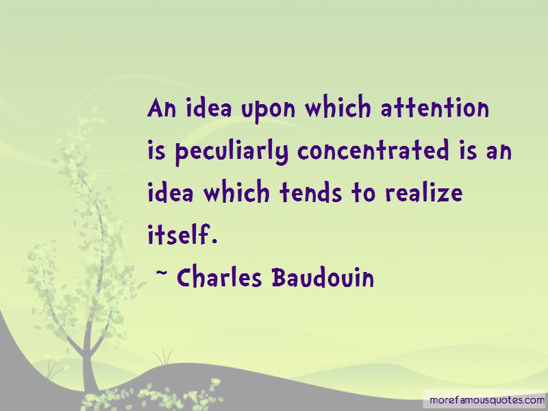 Charles Baudouin Quotes