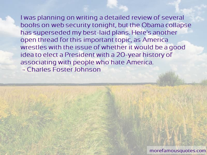 Charles Foster Johnson Quotes