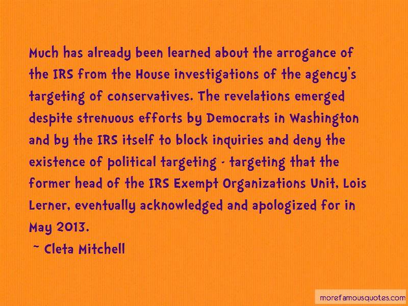 Cleta Mitchell Quotes